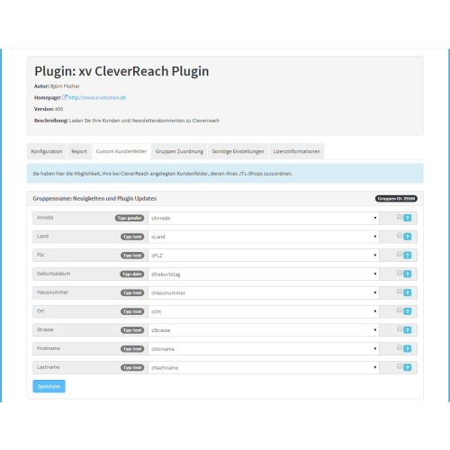 CleverReach Newsletter Plugin für JTL-Shop 4